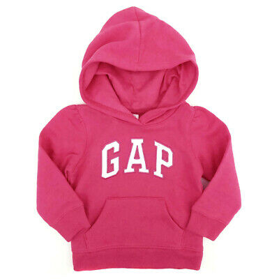 New BABY GAP Pink Logo Hoodie Hoody Girls Age 3 Years