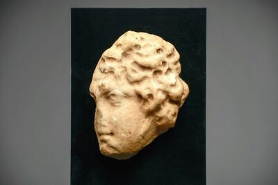 Ancient Roman Marble Head from a Sarcophagus