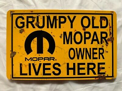 Grumpy Old Mopar Owner Lives Here Magnet Muscle Car Hot Rod Dodge Plymouth Jeep