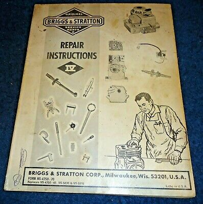 Briggs & Stratton Service and Repair Instructions Manual 4750-70