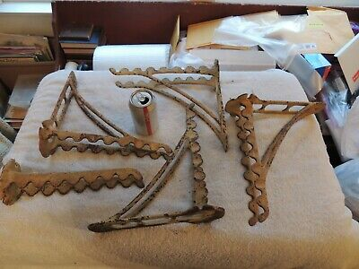 Lot Of Antique Vintage Cast Iron Hardware Store Implement Industrial Hangers
