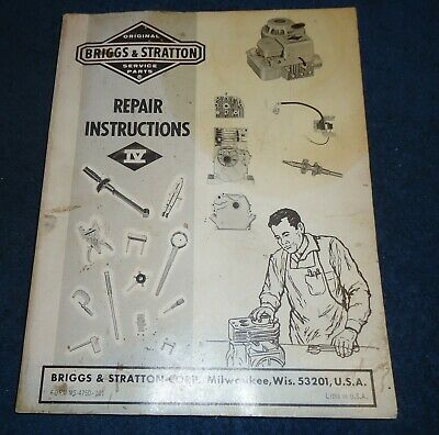 Briggs & Stratton Service and Repair Instructions Manual 4750-101