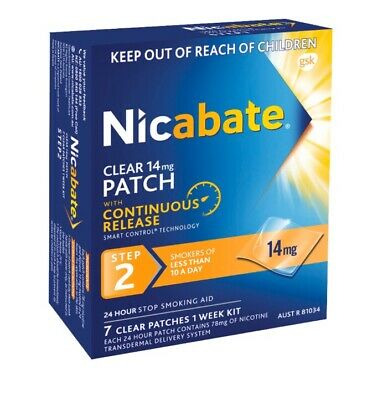 Nicabate Patches-14mg-ONE WEEKS SUPPLY-BRAND NEW UNOPENED BOXES