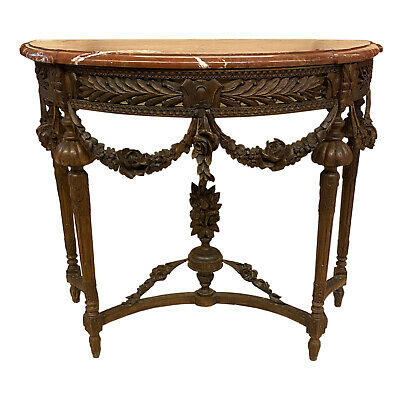 Antique Console Wooden Carved End Nineteenth Century - Period '800