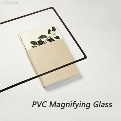 3DF4 Durable PVC Glass Lens Magnifying Glass Reading Books Bedroom Newspaper