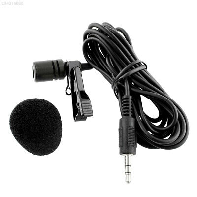 5CF8 External Clip-on Lapel Lavalier Microphone For iPhone SmartPhone Laptop