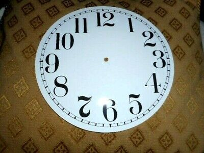 """Round Paper (Card) Clock Dial - 7"""" M/T- Arabic - GLOSS WHITE - Parts/Spares"""