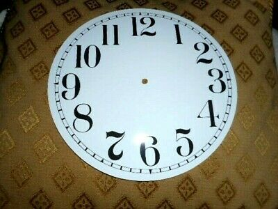 """Round Paper (Card) Clock Dial - 7"""" MINUTE TRACK- Arabic - GLOSS WHITE - Parts"""
