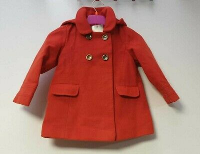Next Girls Red Hooded Duffle Coat Age 2-3 years LN003 MM 02