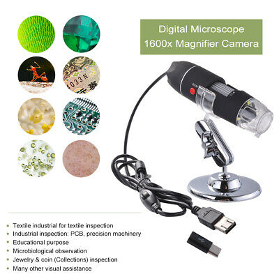 Per Type C Android Phone 1600x USB Digital Microscopio Biological Endoscopio LED