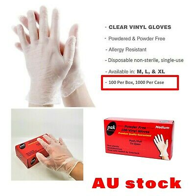 Clear Vinyl Disposable Gloves Powder Free/Powdered Medical RubberFree Protective