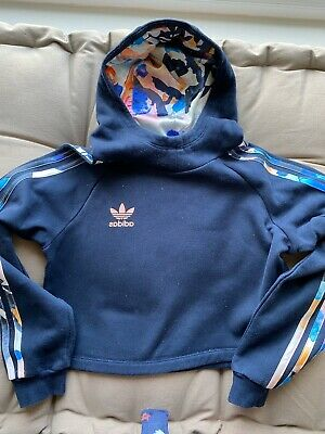 Girls Adidas Navy Tracksuit Hoodie & Leggings Age 10-11