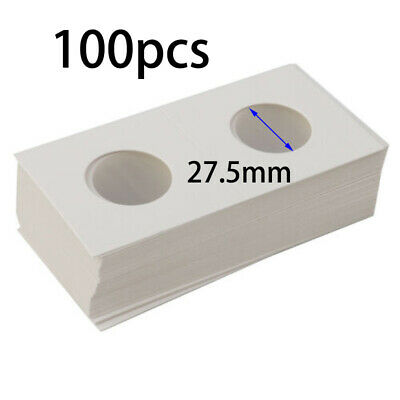 100pk 2x2 Penny Cent Paper Cardboard Coin Holder Organizers For Coins 27.5mm Lot