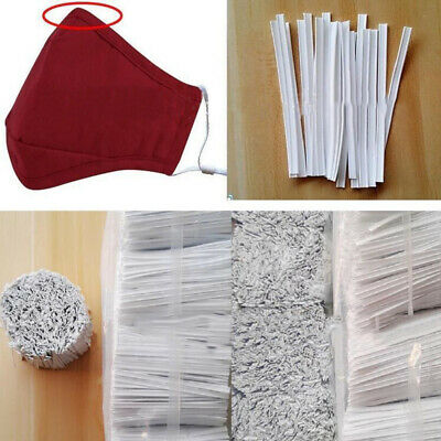 100Pcs Nose Bridge Strip Mouth Cover Fix Protection DIY Craft Making Accessories