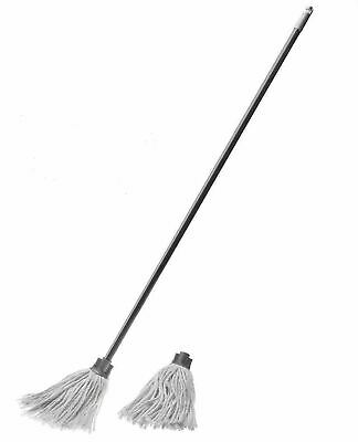 Addis Cotton Mop With Free Refill Head Screw On/Off Handle Home Office