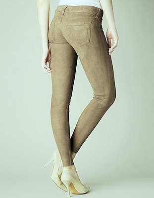 NWT $750 True Religion Casey Skinny Suede Lamb Leather Jeans Pants Sz 29 NEW