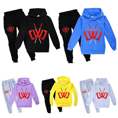Boys Girl's Chad Wild Clay Hoodies Outfit Kids Casual Tracksuit Hoodies+Trousers