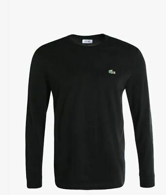 T-shirt Lacoste manica lunga nero T-SHIRT-LACOSTE-TH0123-031-BLK