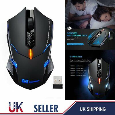 2.4GHz Wireless Cordless Mouse USB Mice Optical Scroll For PC Laptop Computer UK