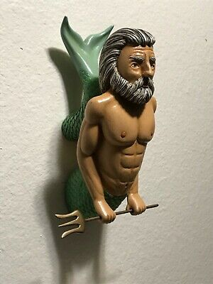 Neptune With Trident Ships Figurehead. Hand Carved, Hand Painted one of a kind.