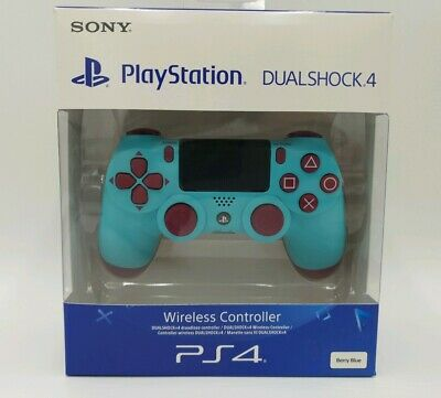 """4 x Official Sony PlayStation 4 Berry Blue DualShock Controller PS4 """" BUNDLE """""""