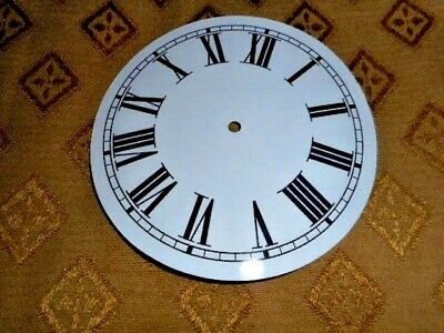"""Round Paper (Card) Clock Dial - 7"""" MINUTE TRACK - Roman - GLOSS WHITE - Parts"""