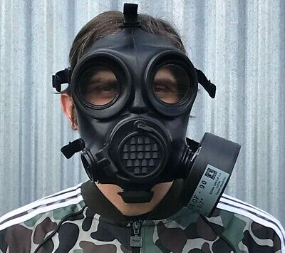 Sealed New Czech Army Nato Issue Om-90 Gas Mask + Filter + Nbc Suit