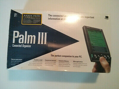 Vintage Palm Iii Connected Organizer Pda Pilot 3Com New In Original Box Sealed