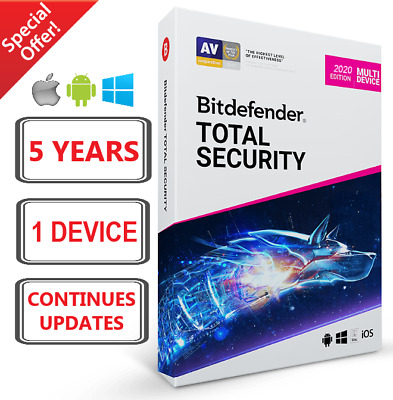 Bitdefender Total Security 2020 | 5 Years 1 Device | Fast Delivery | Download!
