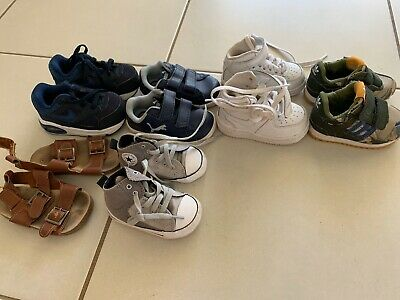 Baby Boys Shoe Bundle Toddler Adidas Nike Converse Sandels Pump Size 3 4 5