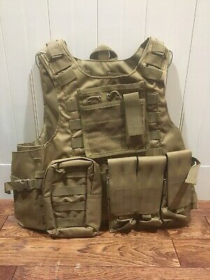 NIW!!! Tactical Combat Vest Plate Carrier Airsoft Paintball