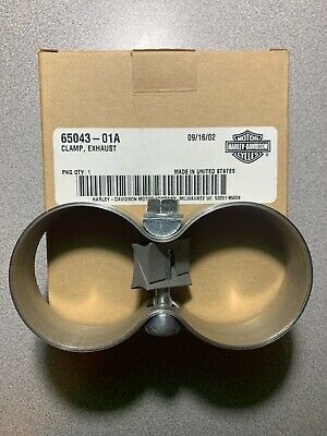NEW GENUINE Harley Davidson 65043-01A Exhaust Clamp MADE IN USA