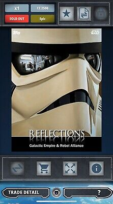 Topps Star Wars Card Trader Stormtrooper Empire / Rebel Alliance Reflections