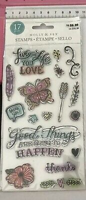 Molly & Rex Clear Stamps ~ Live The Life You Love Good Things Are Going Happen