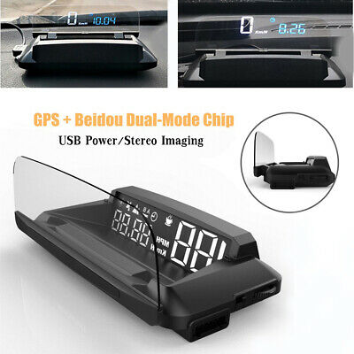 Driving G3 GPS Heads Up Display Car USB HUD w/Reflection Screen Stereo Imaging
