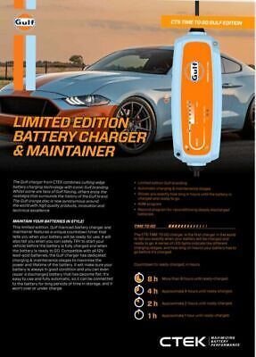 Ctek Ct5 Powersport Battery Charger & Maintainer Gulf Limited  Edition