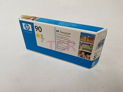 HP 90 C5057A Yellow Printhead and Printhead Cleaner *Date 2018*