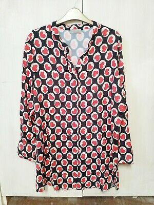LADIES BLACK & RED PATTERNED MARIA BELLENTANI TOP SIZE XL Brand New Without Tags