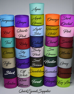 """66 yards 7/8"""" Wholesale Grosgrain Ribbon High Quality Bows Crafts Sewing Lot New"""