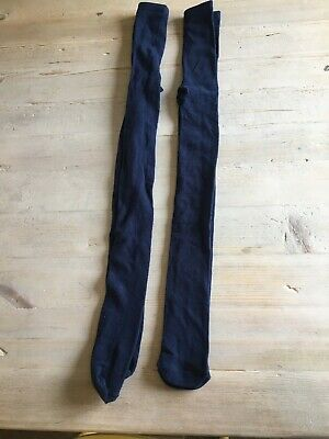 2 Pairs Navy Blue School Tights, Age 9-10