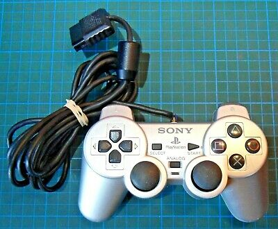 Official Sony PlayStation 2 PS2 SCPH-10010 Silver Controller FAULTY Spares/Rep