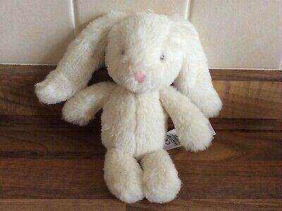 Marks & Spencer M&S baby White bunny rabbit rattle soft toy Comforter 09441187