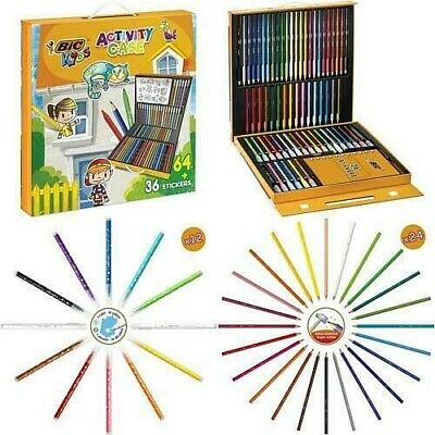 Quality Kids Colouring Drawing Set Artists Art Case Pencils Painting Childrens