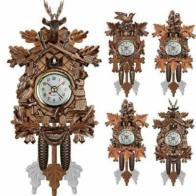 Antique Mini Cuckoo Clock Vintage Forest Quartz Swing Wall Alarm Art Room New