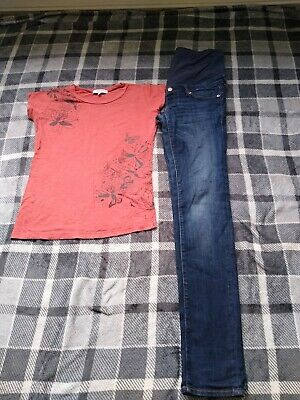 Maternity Jeans And Top Bundle 8/10