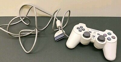 Official Sony Dualshock White Ps1 Playstation Psone Controller Pad - Scph-110