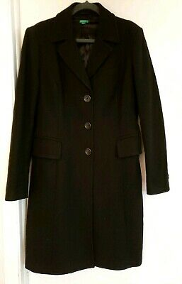United Colors Of Benetton LARGE / XL SIZE 48 Black Long Sleeve Long Jacket - EUC