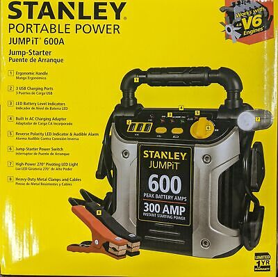 STANLEY 600/300 Amp 12V Jump Starter with LED Light (J309)