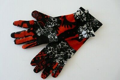 Christian Lacroix Acetate Blend Stretchy Velvet Multicol. Gloves Italy Osfa Nwot