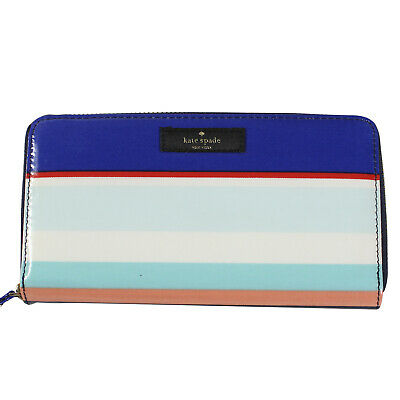 Kate Spade Neda Large Zip Around Wallet, Tropical Stripe Daycation